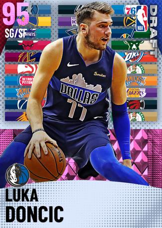 Luka Doncic pinkdiamond card