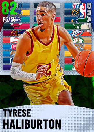 Tyrese Haliburton emerald card