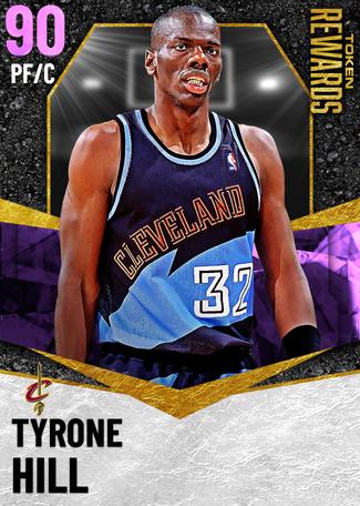 '04 Tyrone Hill amethyst card