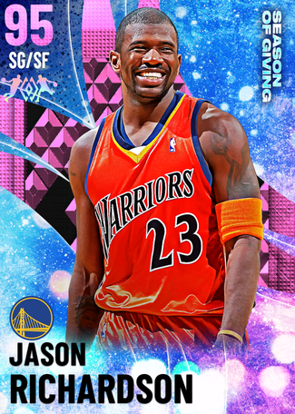 '01 Jason Richardson pinkdiamond card