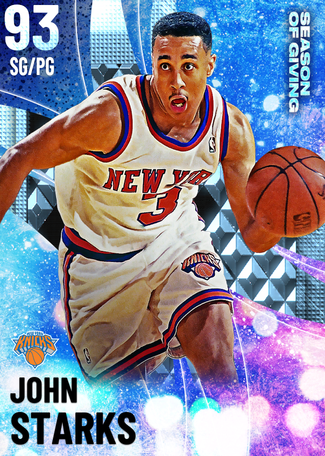 '93 John Starks diamond card