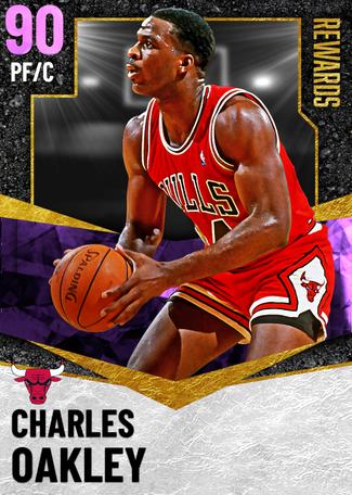 '88 Charles Oakley amethyst card