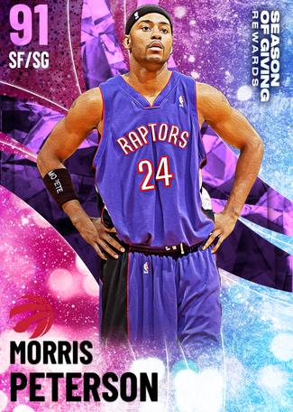 '11 Morris Peterson amethyst card