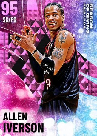 '04 Allen Iverson pinkdiamond card
