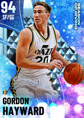 '16 Gordon Hayward diamond card