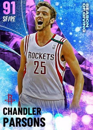 Chandler Parsons amethyst card