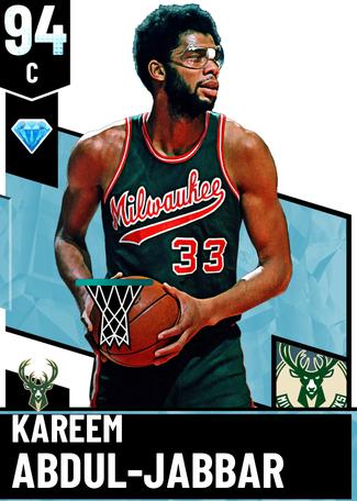 '89 Kareem Abdul-Jabbar diamond card