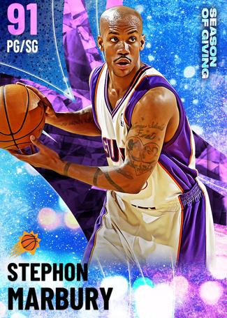 '02 Stephon Marbury amethyst card