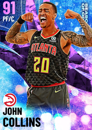 John Collins amethyst card