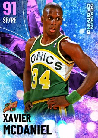 '87 Xavier McDaniel amethyst card