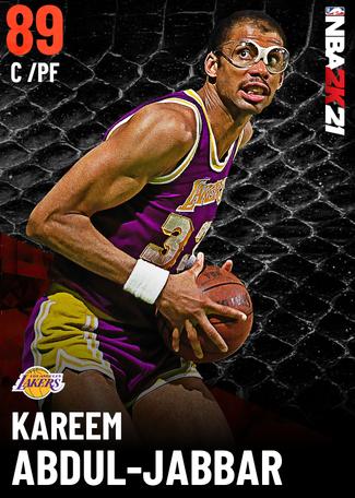 '89 Kareem Abdul-Jabbar ruby card