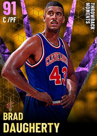'92 Brad Daugherty amethyst card