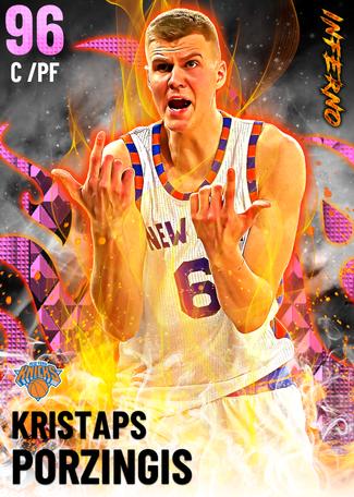 Kristaps Porzingis pinkdiamond card
