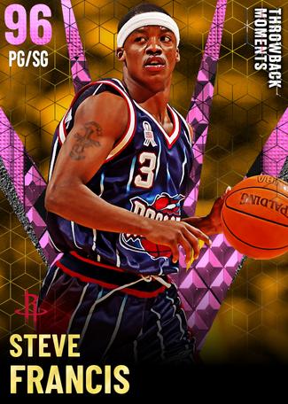'01 Steve Francis pinkdiamond card