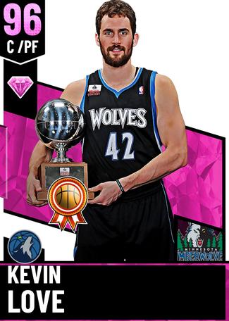 '19 Kevin Love pinkdiamond card
