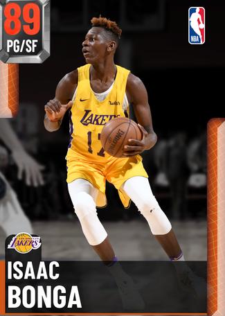 Isaac Bonga ruby card