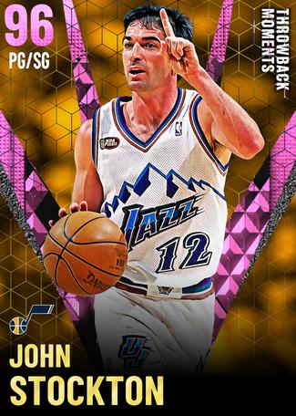 '03 John Stockton pinkdiamond card