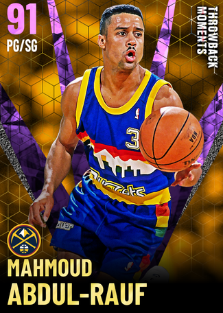 '94 Mahmoud Abdul-Rauf amethyst card