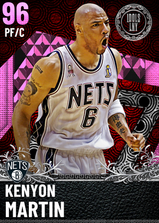 '02 Kenyon Martin pinkdiamond card