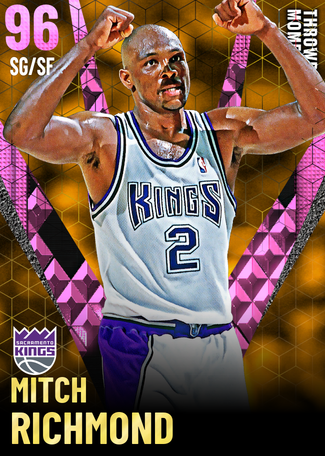 '02 Mitch Richmond pinkdiamond card