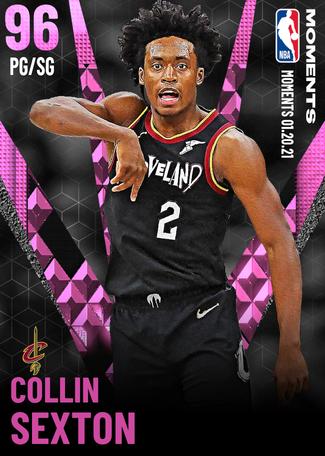 Collin Sexton pinkdiamond card