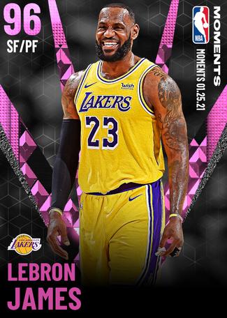 LeBron James pinkdiamond card