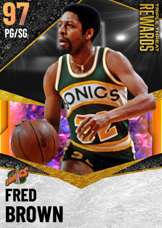'76 Fred Brown opal card