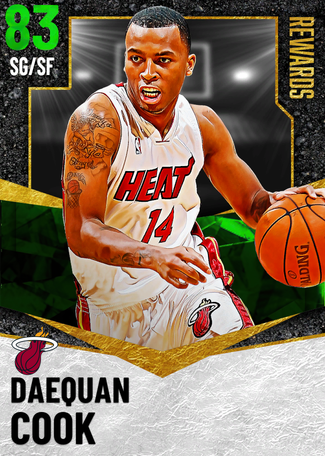 '10 Daequan Cook emerald card