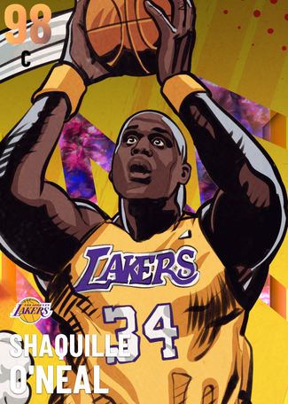 '06 Shaquille O'Neal opal card