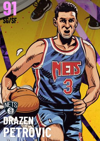 '92 Drazen Petrovic amethyst card