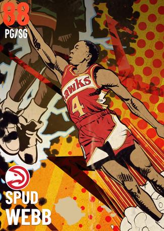 '87 Spud Webb ruby card