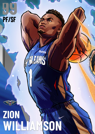 Zion Williamson dark_matter card
