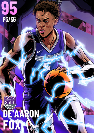 '19 De'Aaron Fox pinkdiamond card
