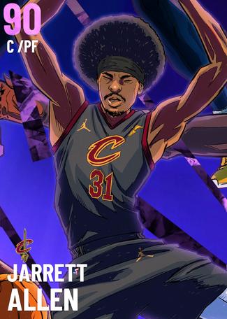 Jarrett Allen amethyst card