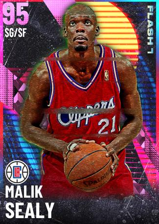 '88 Malik Sealy pinkdiamond card