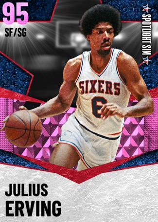 '87 Julius Erving pinkdiamond card