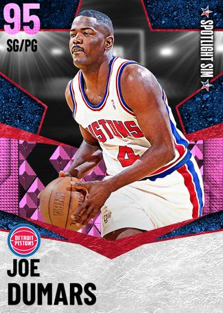 '99 Joe Dumars pinkdiamond card