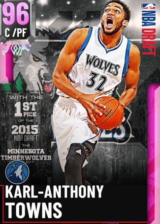Karl-Anthony Towns pinkdiamond card