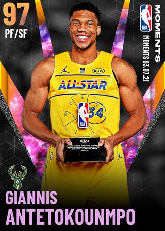 Giannis Antetokounmpo opal card