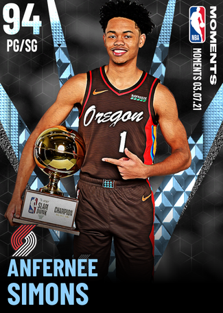 Anfernee Simons diamond card