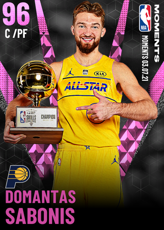 Domantas Sabonis pinkdiamond card