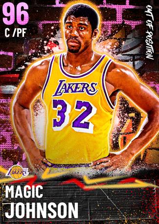 '91 Magic Johnson pinkdiamond card