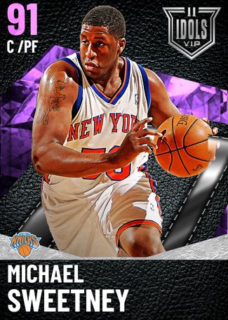 '07 Michael Sweetney amethyst card