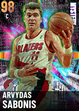 '99 Arvydas Sabonis opal card