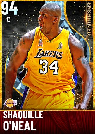 '06 Shaquille O'Neal diamond card