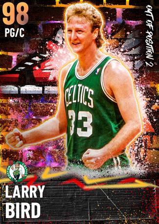 '95 Larry Bird opal card