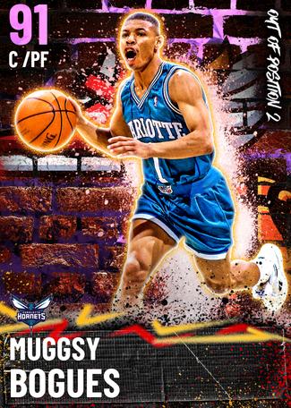 '01 Muggsy Bogues amethyst card