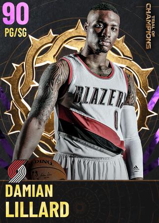 Damian Lillard amethyst card
