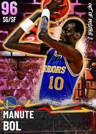 '95 Manute Bol pinkdiamond card