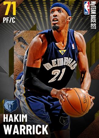 '06 Hakim Warrick gold card